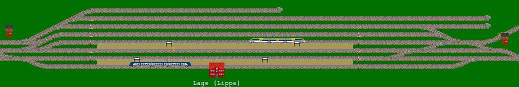 Bahnhof Lage im Streckennetz für Bahn