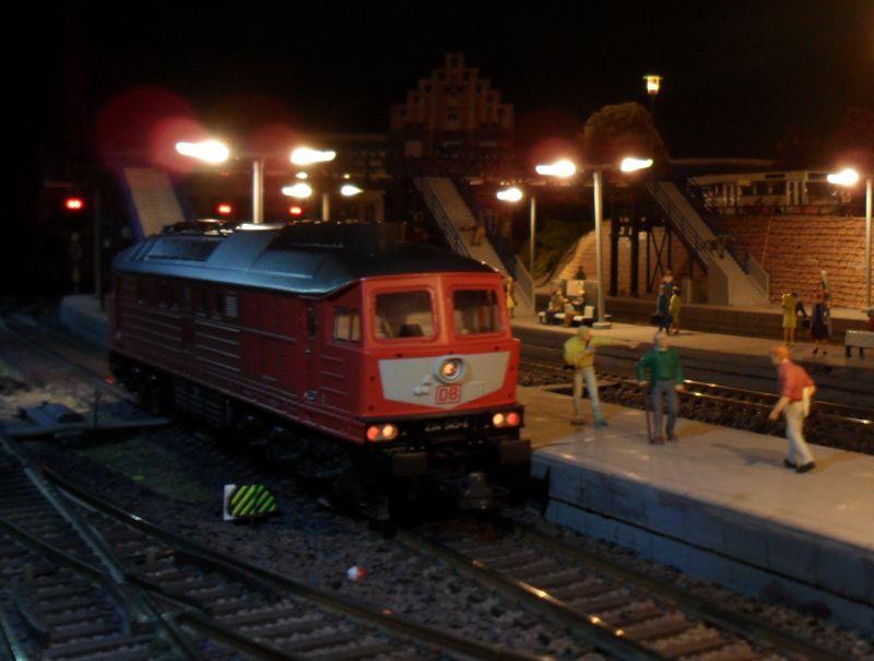 6-achsige Diesellok der Baureihe 234 im Bahnhof Bettbergen