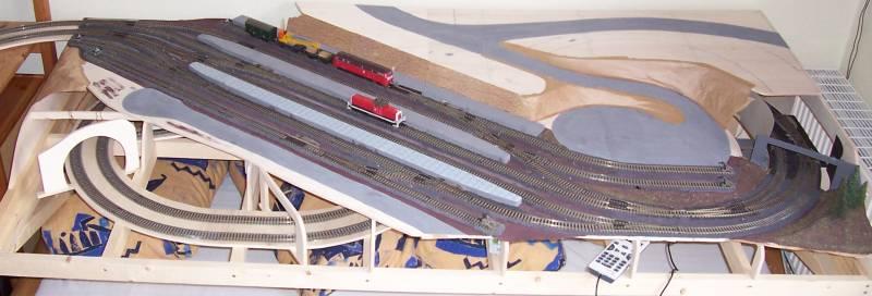 Deutliche Fortschritte an der Modellbahn bis April 2008