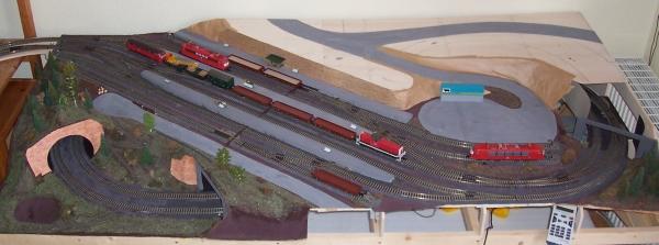 Bahnhof auf der Modellbahnanlage