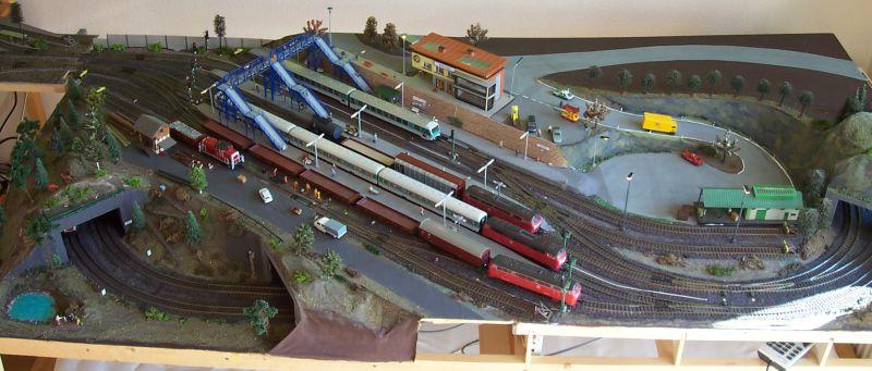 Blick auf Bahnhofsmodul Bettbergen