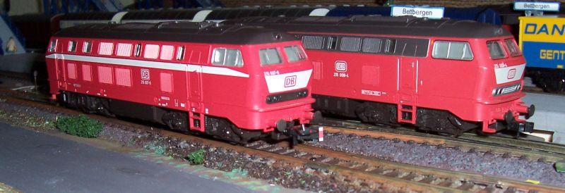 Neue Dieselloks der Baureihe 215 in Bettbergen
