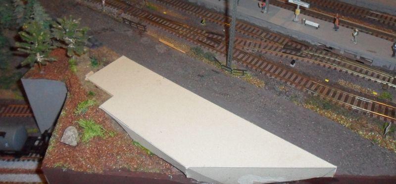 Grundplatte für die Frachthalle