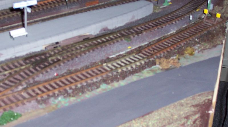 verlängertes Gleis 16 in Bettbergen mit modifiziertem Prellbock