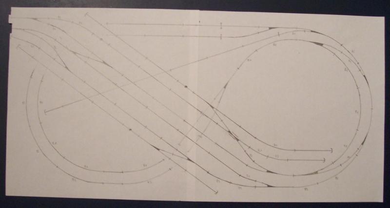 Gleisplan der Modellbahnanage