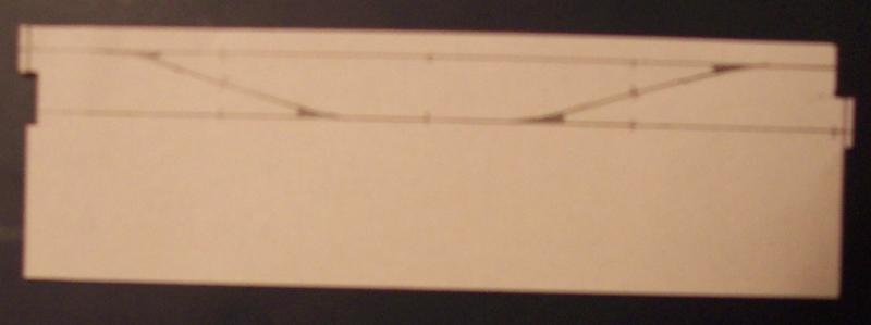 Gleisplan für Modellbahnsegment mit Überleitstelle