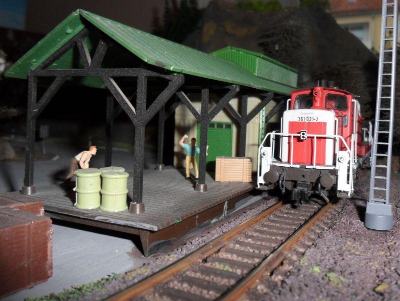 Güterabfertigung am Bahnhof Bettbergen