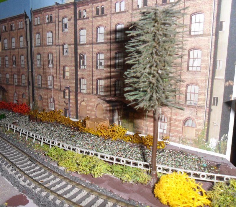 Industriegebäude als Modellbahnhintergrund