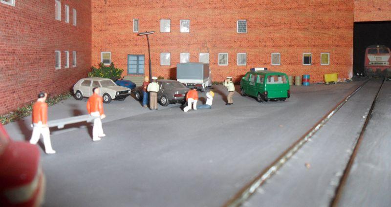 Unfall auf Parkplatz des Betriebswerks