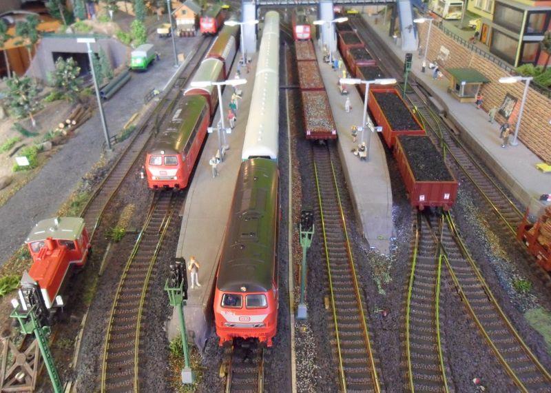 Blick auf den Bahnhof Bettbergen