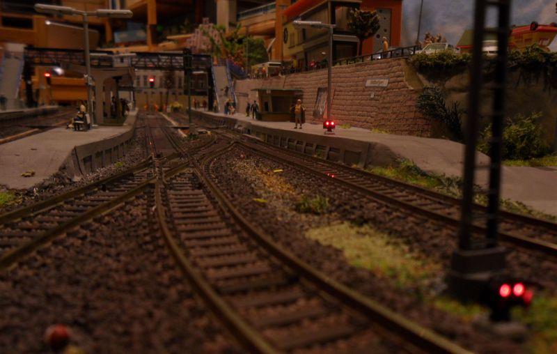 Sperrsignale im Bahnhof Bettbergen - hier die Signale Ls11 und 12