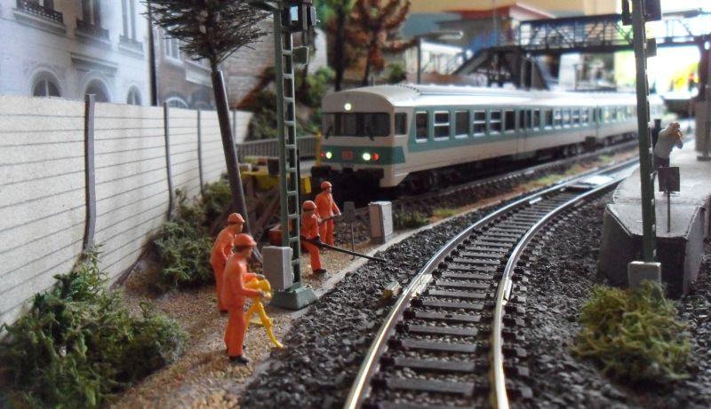 Bauarbeiten im Bahnhof Bettbergen