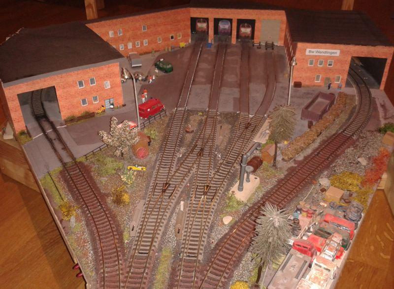 Bahnbetriebswerk Wendlingen vor dem Abriss und Neubau
