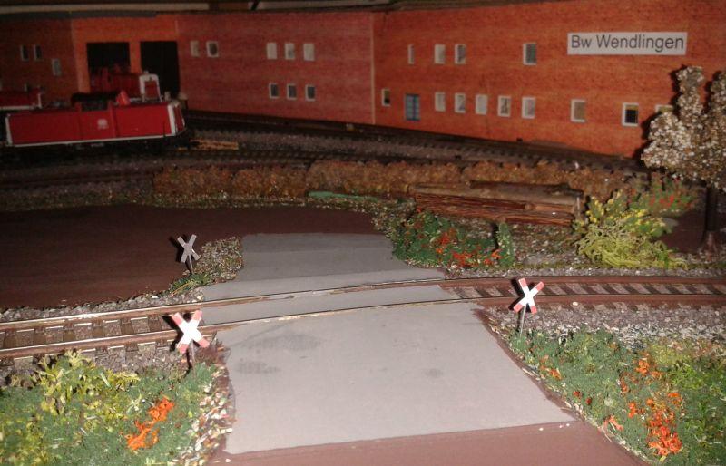 Bahnübergang bei Wendlingen