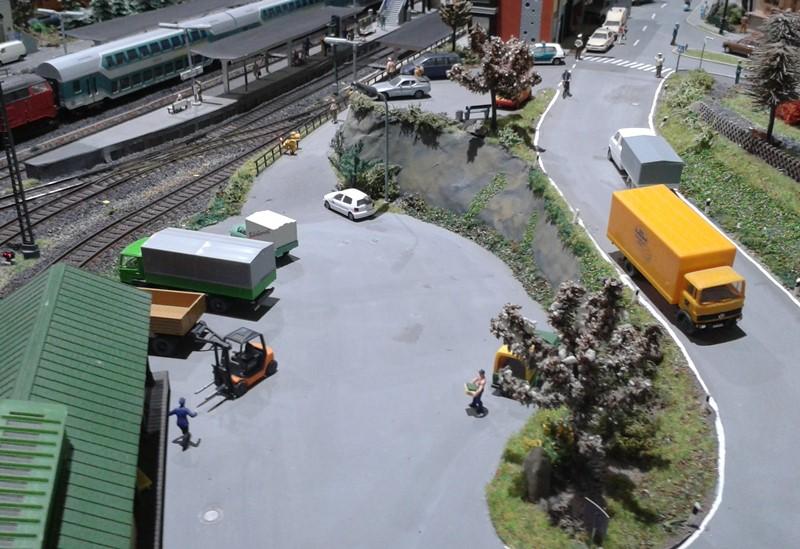 Überblick über die Güterabfertigung am Bahnhof Bettbergen