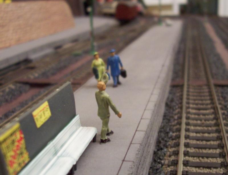 Treffen auf dem Bahnsteig