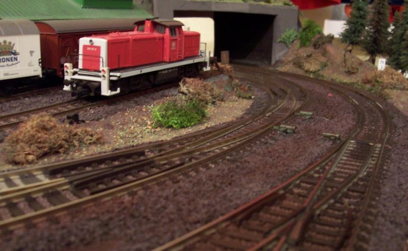 gealterte Gleisanlagen auf der Modellbahn