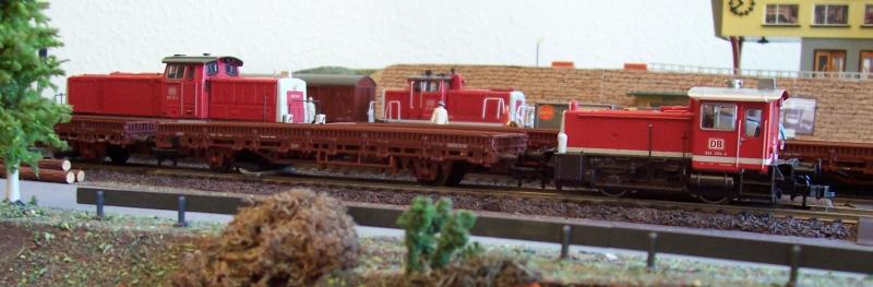 Rangierlokomotiven der Baureihen 290, 361 und 332 auf der Modellbahn