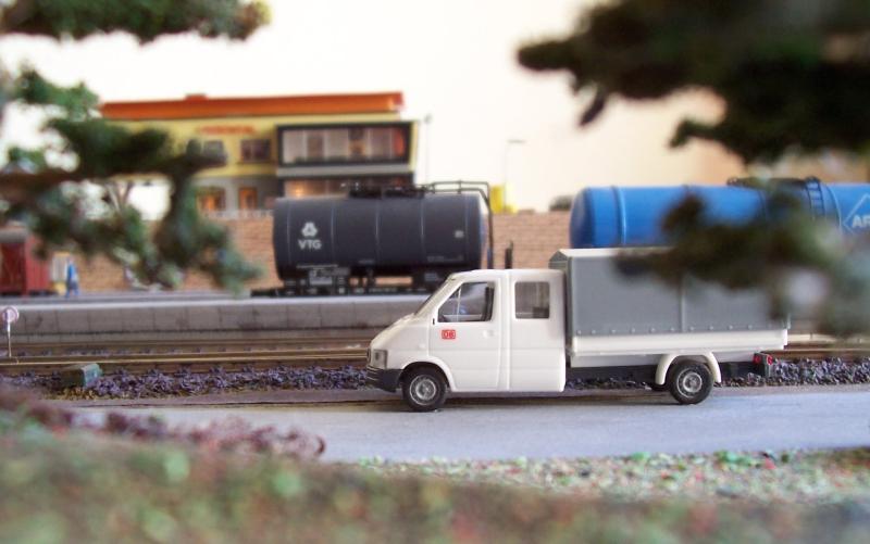 Die Arbeitstrupps der Deutschen Bahn sind auf der Modellbahn im Einastz