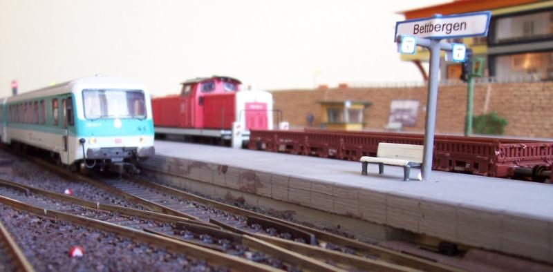Reger Rangier- und Zugbetrieb im Bahnhof Bettbergen