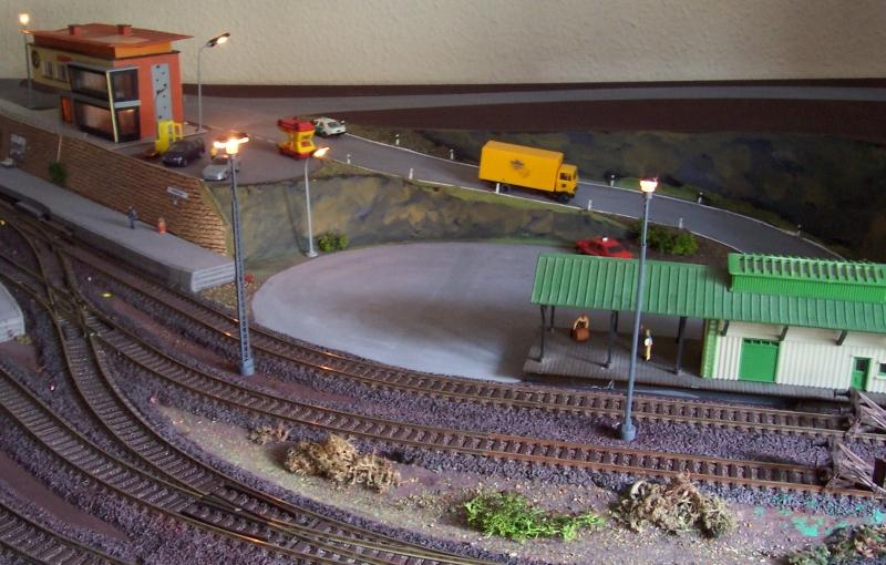 Gleisfeldbeleuchtung an der Güterabfertigung in Bettbergen