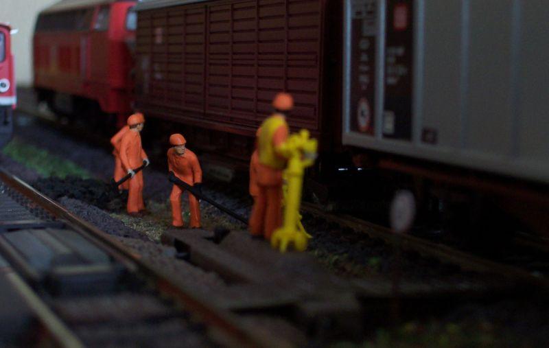 Gleisbaustelle in Bettbergen