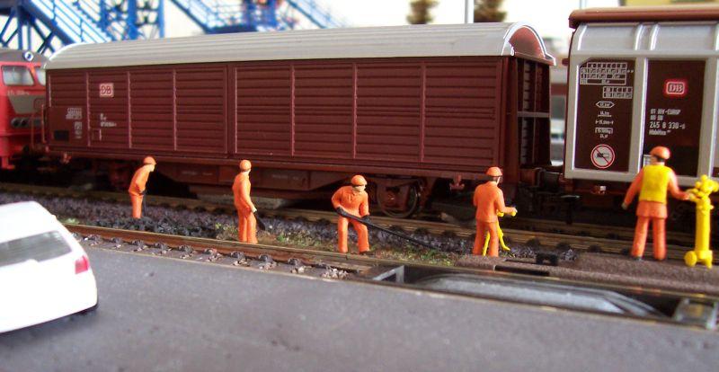 Gleisbauarbeiten im Bahnhof