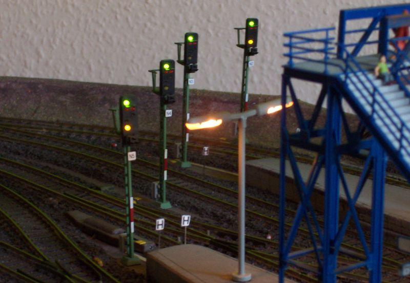 Ausfahrsignale im Bahnhof Bettbergen