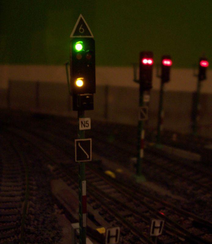 Ausfahrt ins Gegengleis mit 60 km/h am Signal N5