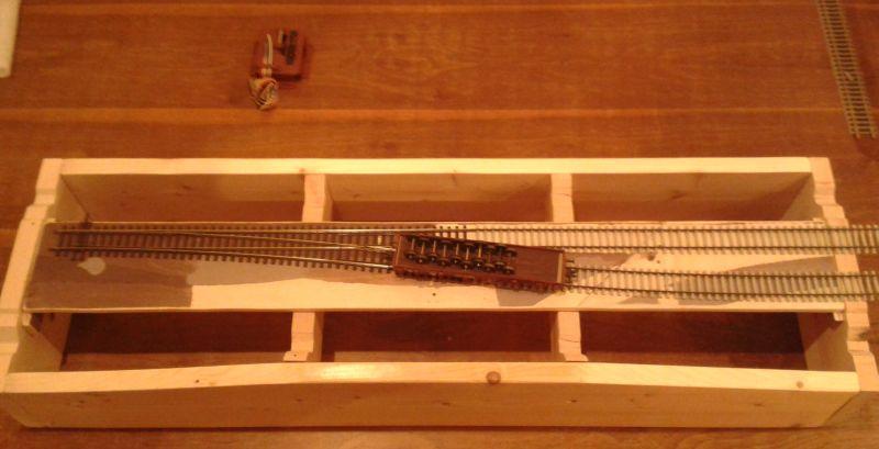 Modulrohbau mit aufgelegten Gleisen
