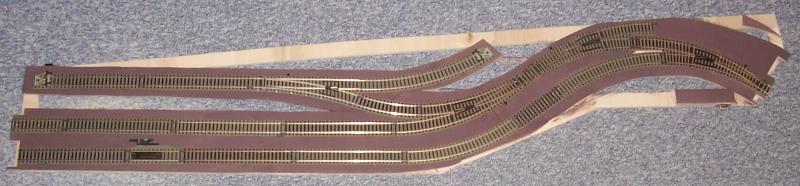 Modellbahnmodul Regalach im Rohbau
