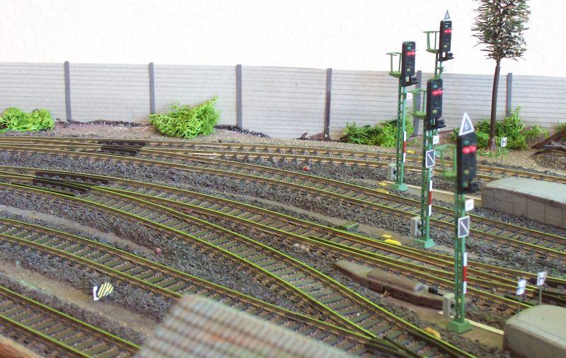 Schallschutzwand auf der Modelleisenbahn