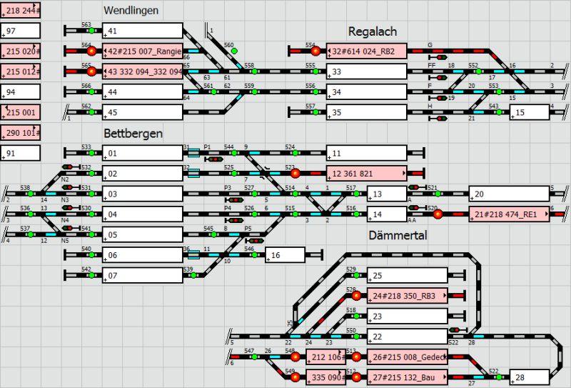 Stelltischplan Modelleisenbahn