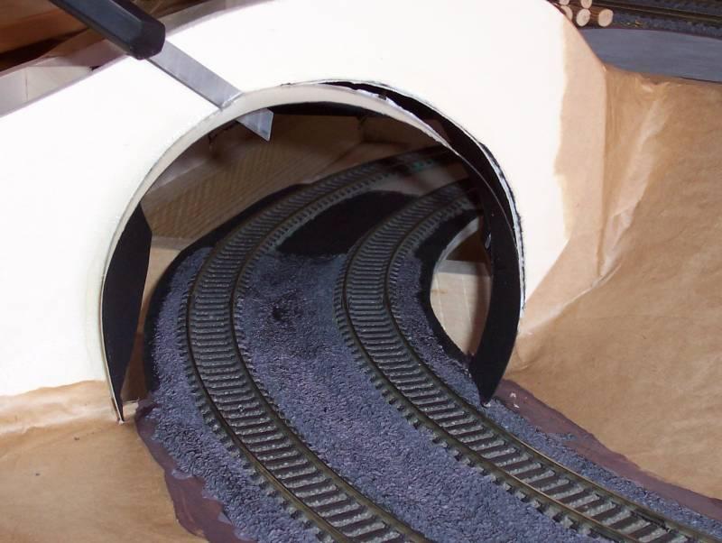 Bau eines Eisenbahntunnel