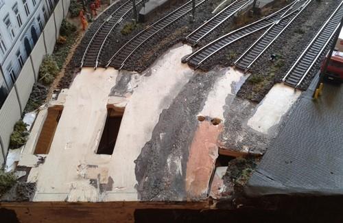 Gleisrückbau am Modulübergang in Bettbergen