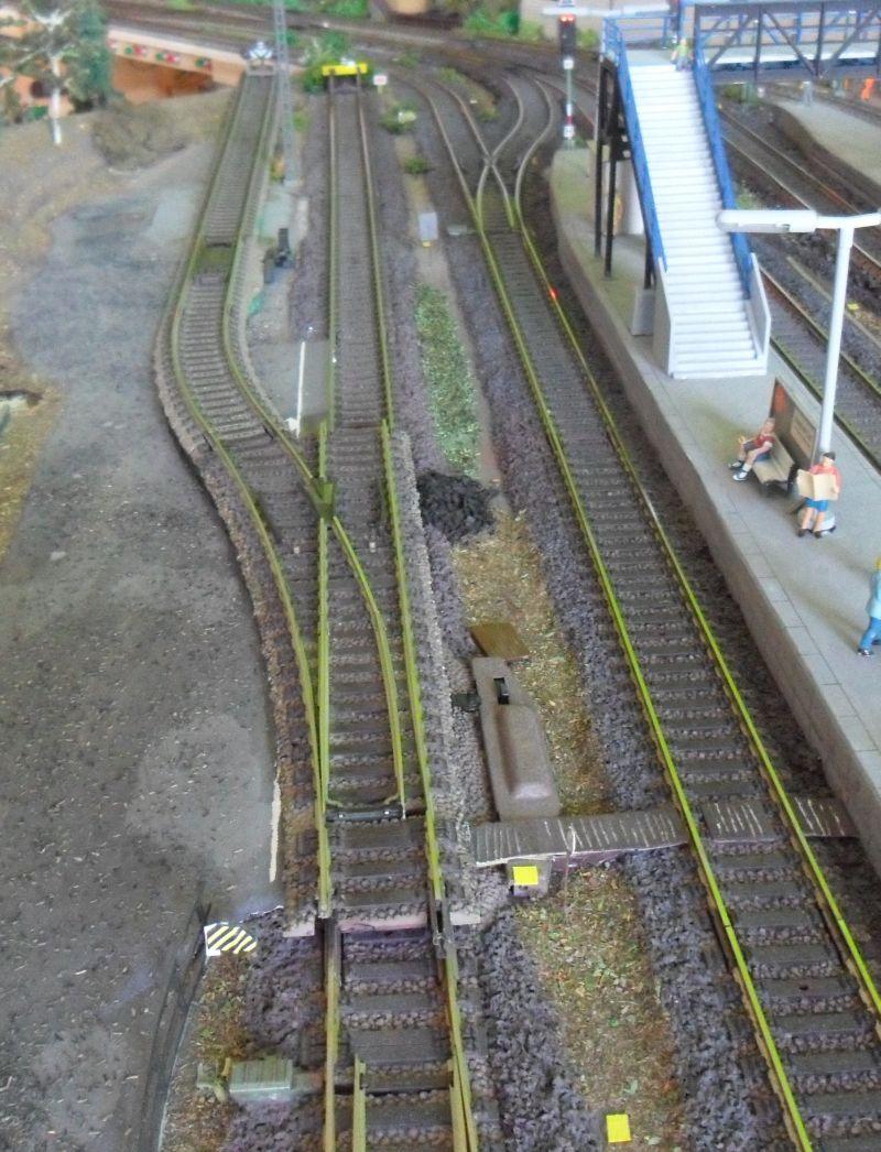 Mögliche Erweiterung der Ladestraße im Bahnhof der Modellbahnanlage