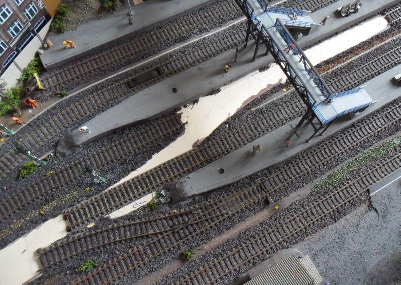 Weichenrückbau auf der Modellbahn
