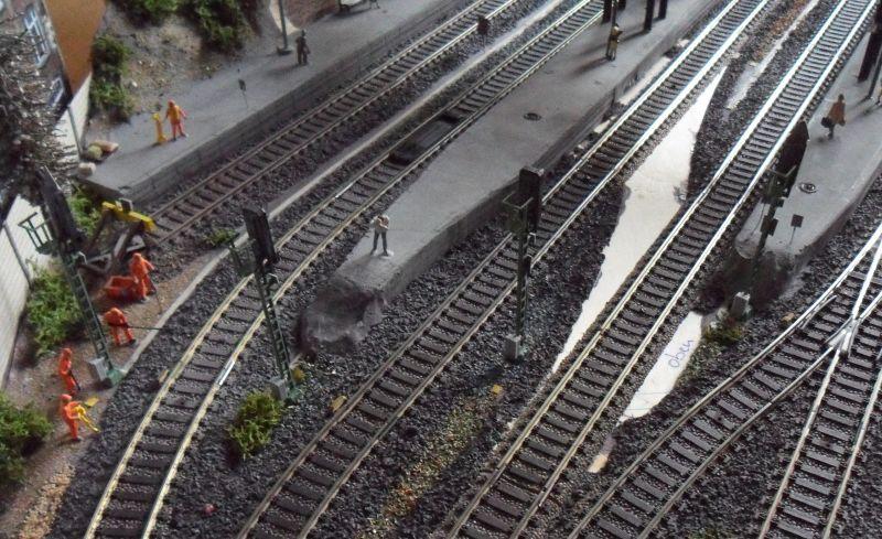 Gleisbau auf der Modelleisenbahn