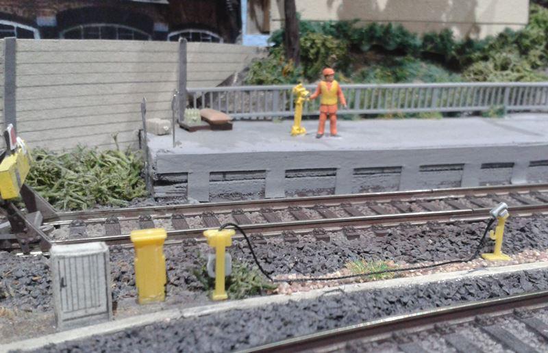 Zugvorheizanlage im Bahnhof Bettbergen am Gleis 1