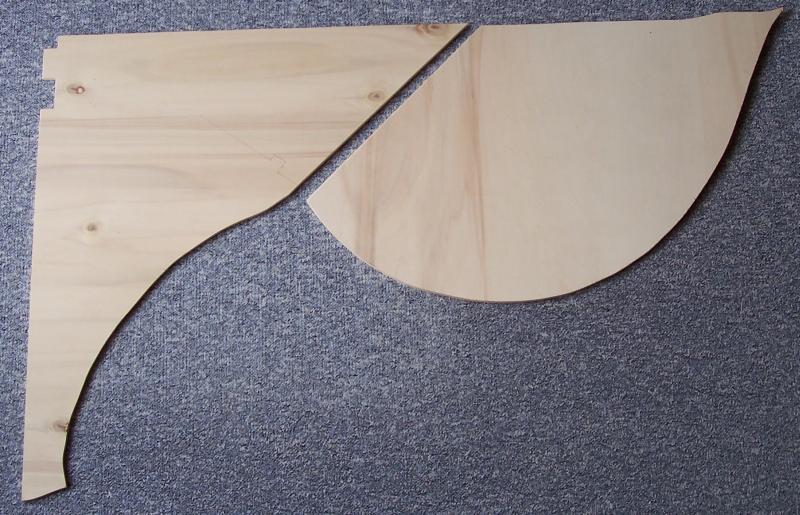 Sperrholzreste als Grundlage für Modellbahnsegment