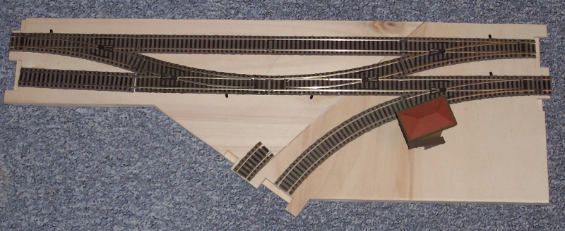 Die Gleise werden in der späteren Lage aufgelegt