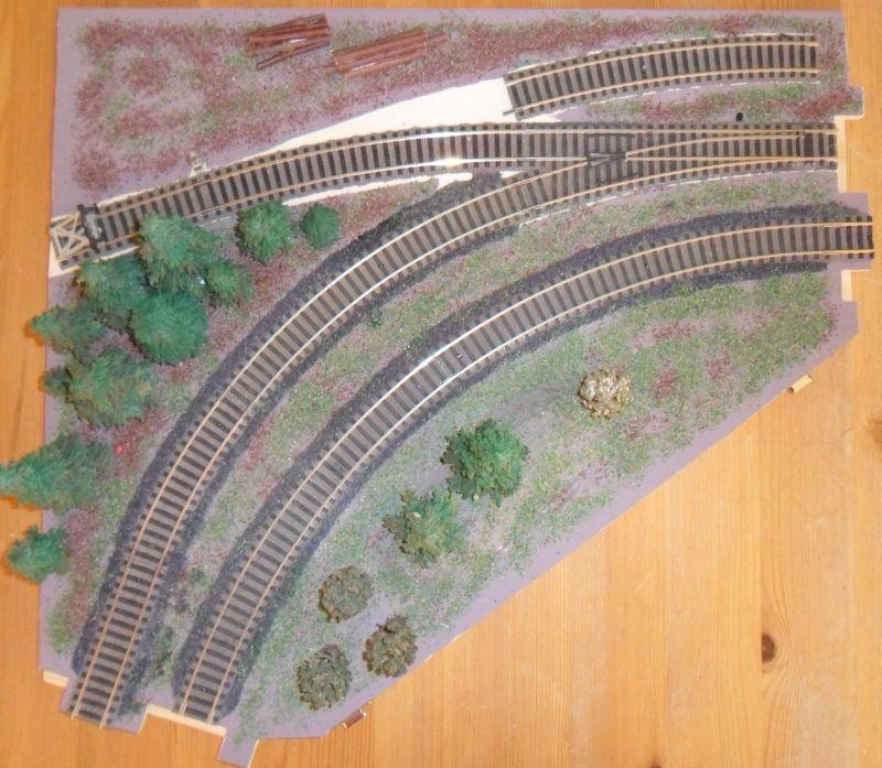 Modellbahnmodul Anschluss Kurve
