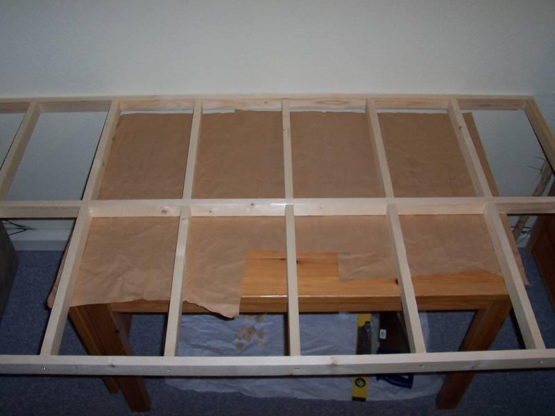 Rahmen für die Modellbahnanlage