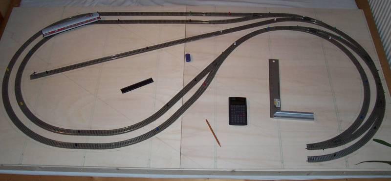 Gleisplan der Modelleisenbahnanlage