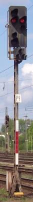 Lichtsignal bei der Eisenbahn